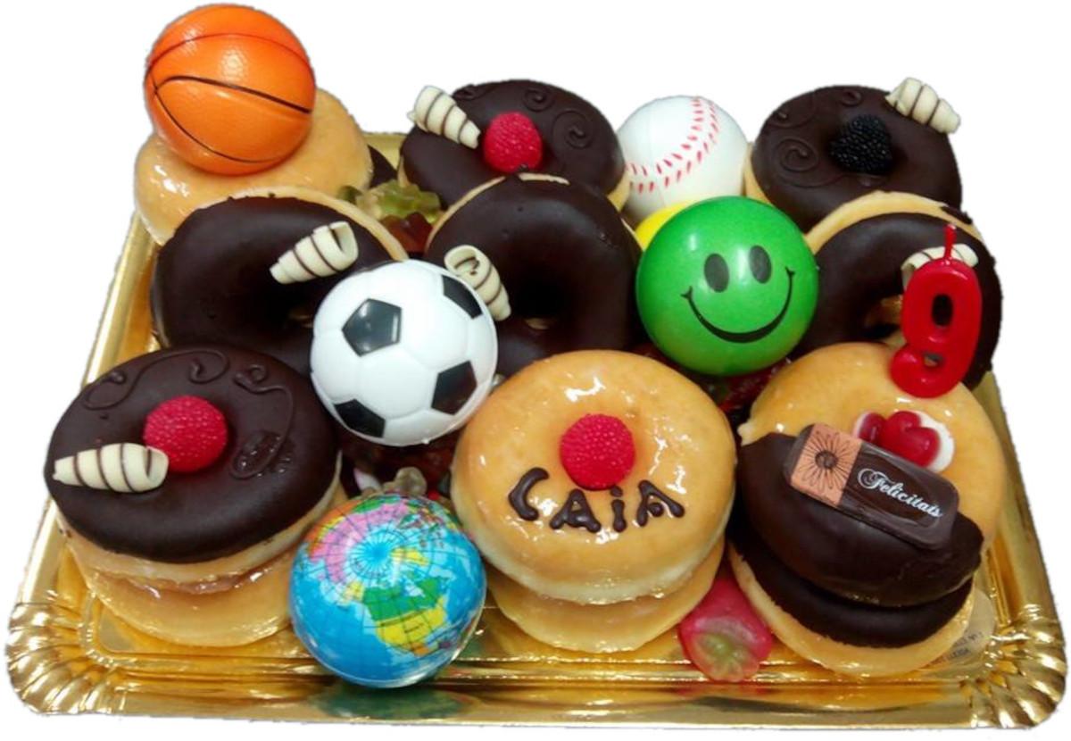 Bandeja de Donuts para cumpleaños 2