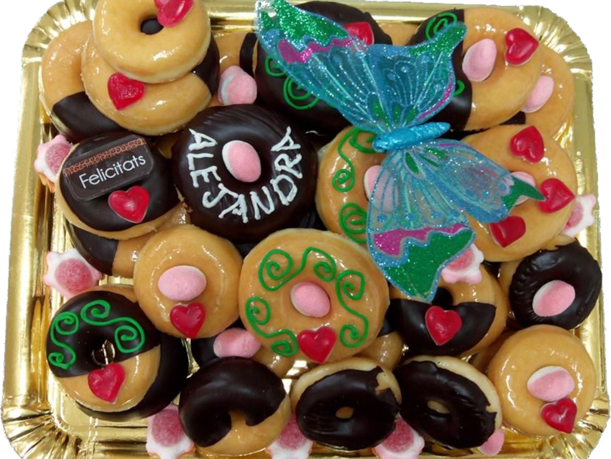 bandeja donuts cumpleaños