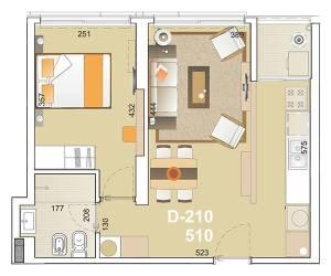 E-Tower Sky 1 dormitorio tipologia 10