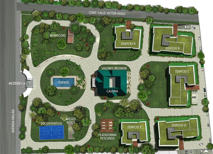 Town Park - mapa
