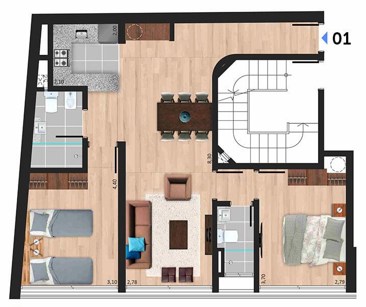 Soleil Playa 2 dormitorios 01