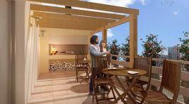 2 Dormitorios en Pocitos con 2 baños, vestidor, cocina definida y 2 terrazas