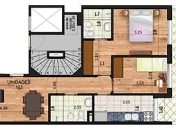 Marina 26 II 2 dormitorios patio
