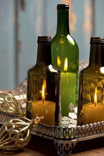 Reciclar botellas de vidrio 10 ideas para reciclar - Botellas con velas ...