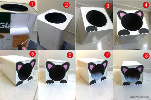 casinha de lata para gato ou cão