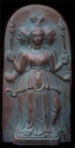 Deusa Hékate, panteão grego-micênico, das encruzilhadas, dos portais e das passagens.