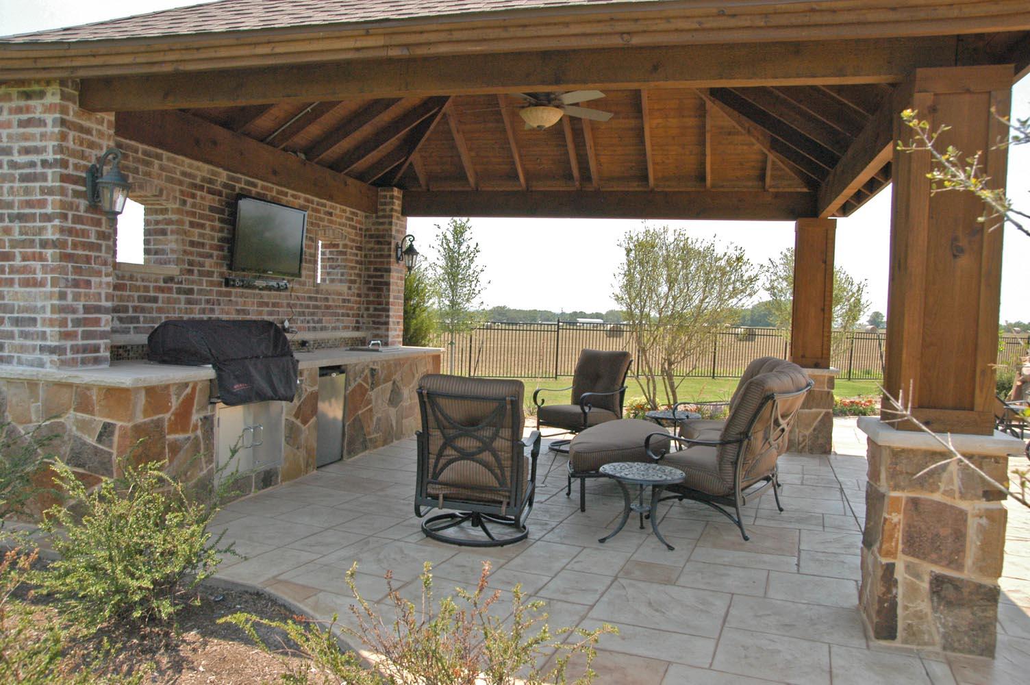 Dallas Outdoor Living Gallery Frisco Outdoor Kitchen, Plano on Backyard Patio Grill Island id=23661