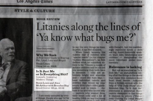 "Apparently, the editorial guidlines have changed at the LA Times... or, to put it more colloquially, ""the shit has loosened up."""