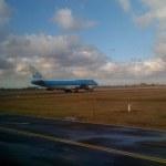 Lumbering KLM 747