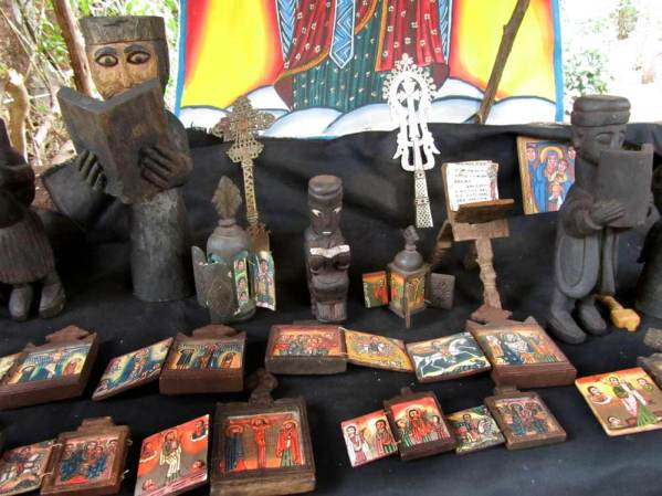 locals sell ancient bibles and religious artefacts