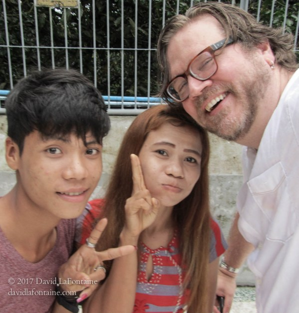 Dave LaFontaine with fans in Rangoon