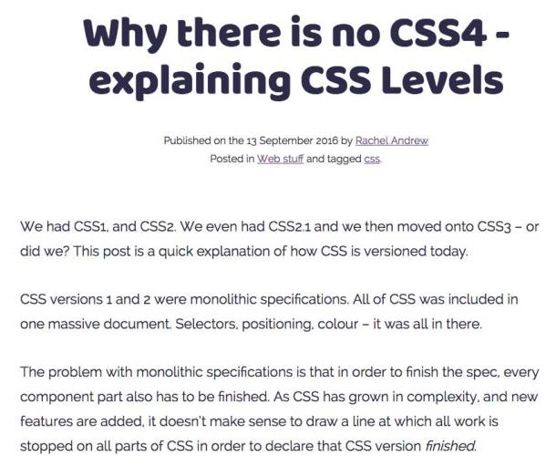 there is no such thing as css 4