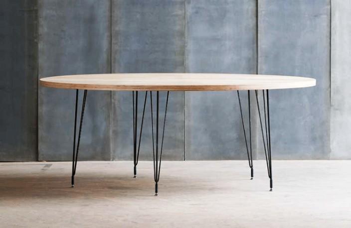 Belle Table Ronde En Bois Et Mtal Tango Au Design Moderne