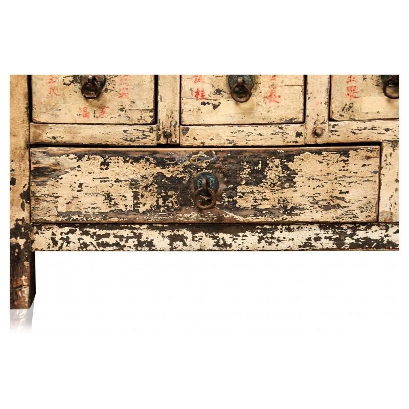 Magnifique Ancien Meuble Dapothicaire Chine Populaire