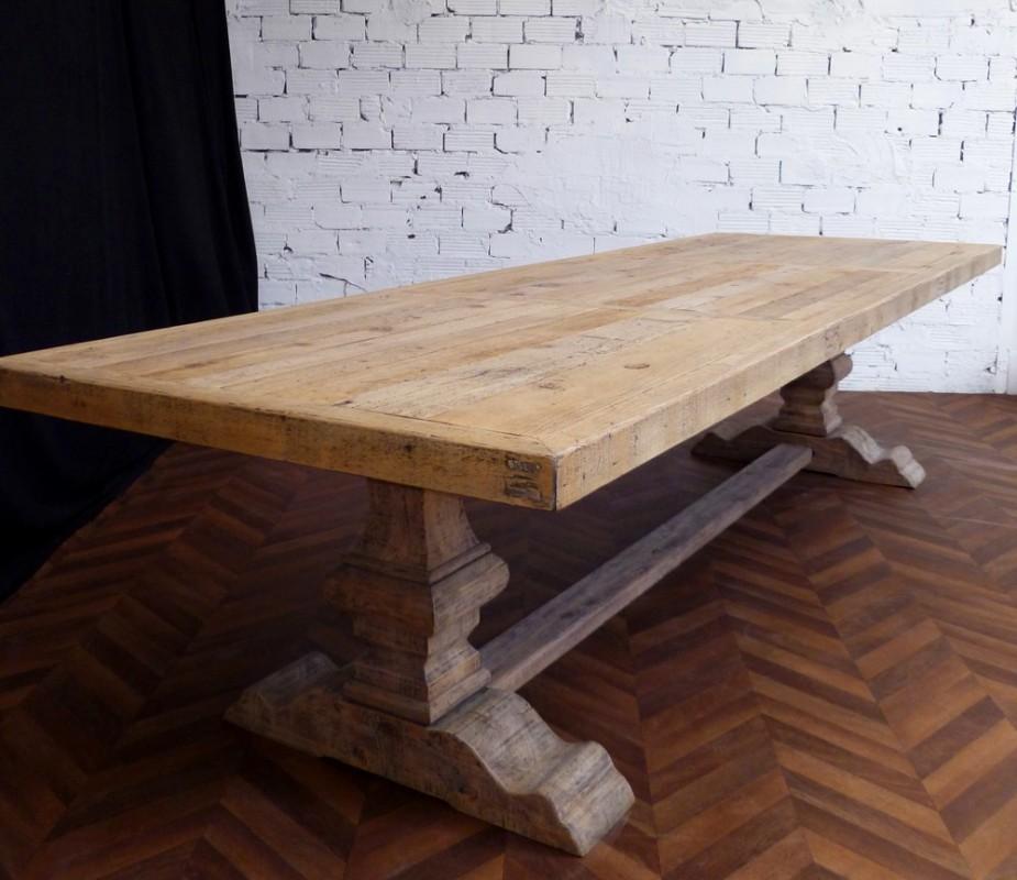 Grande Et Belle Table De Ferme Monastre En Bois Brut