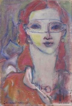 H64 (réservé) - Derrière le masque (35x24 cm)