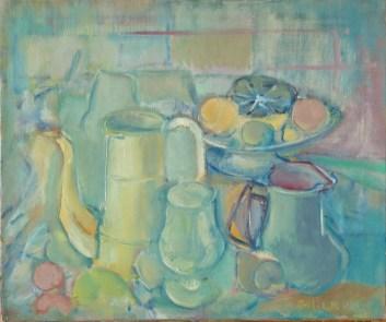 Objets et fruits 46x55 cm01