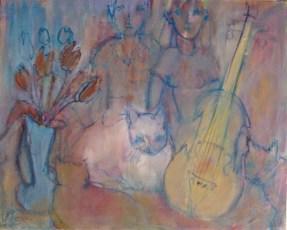 Trois chats 65 x 81 cm03