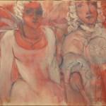 Carnaval huile sur toile 60 x 81 cm