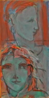 Juxtaposition Huile sur toile 40 x 20 cm