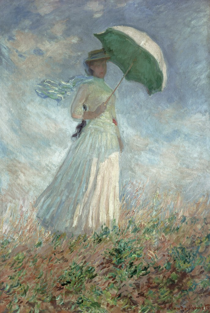 woman with umbrella - monet