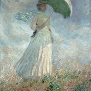 woman with umbrella - monet