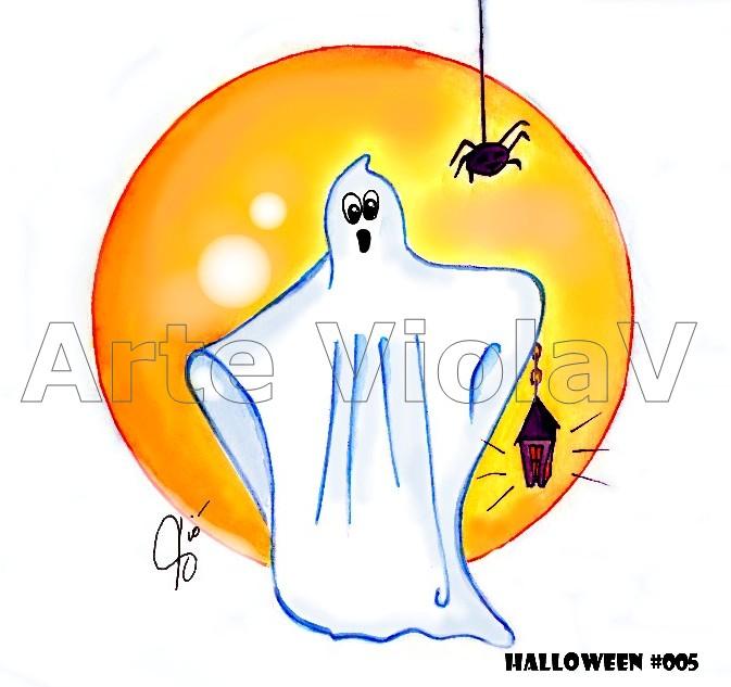 Halloween fantasma illustrazioni di Violetta Viola Arte ViolaV