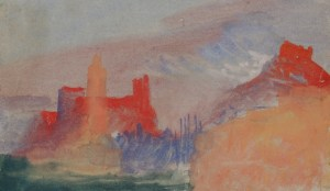JMW Turner, Vermilion Towers, c.1834, Gouache and watercolour on paper © Tate, London 2015