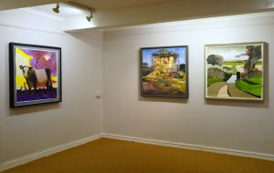 Artists Auriol Innes, James Colman, Tor Falcon, Eight by Eight Group Art Show, Fairhurst Gallery, Norwich