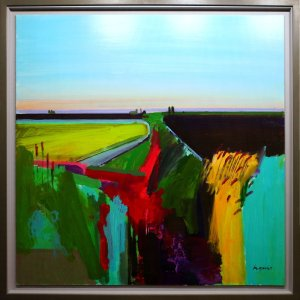Artist Fred Ingrams, Early morning ditch, Acrylic. Photo by Katy Jon Went