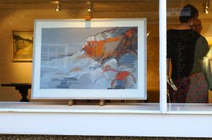 Artist Malca Schotten Hunstanton Cliff I, Mandell's Gallery, Norwich