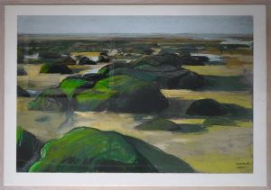 Artist Malca Schotten Hunstanton Rocks I