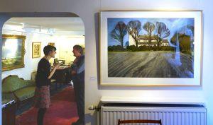 Artist Malca Schotten, North Norfolk Church, Mandell's Gallery, Norwich
