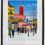 rtist Howard Temperley, Norwich City Hall and Market, Digital Painting