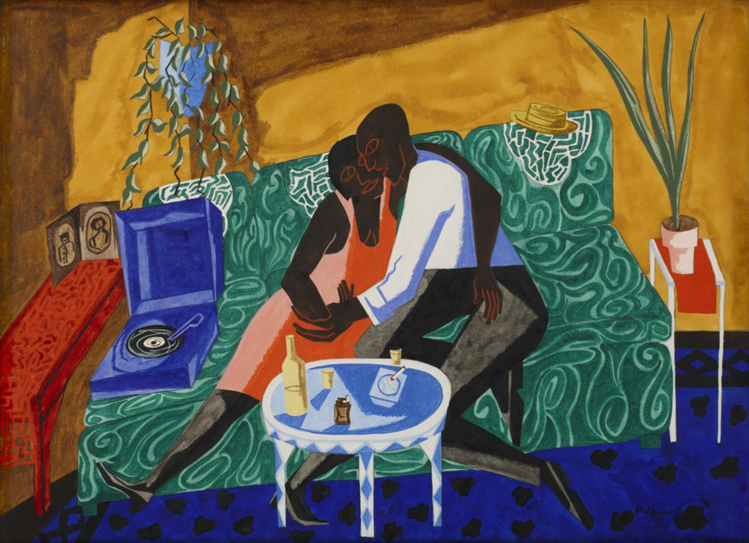 Image result for the lovers jacob lawrence