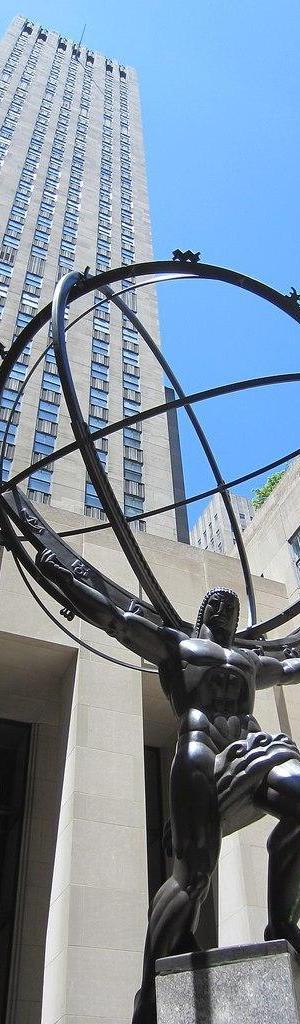 'Atlas' (1937) de Lee Lawrie no Rockefeller Center