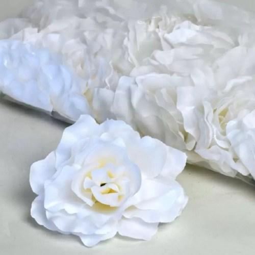 Cap floare Trandafir D10 Alb