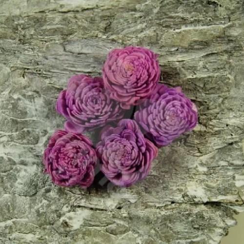 Capete flori Ming violet set