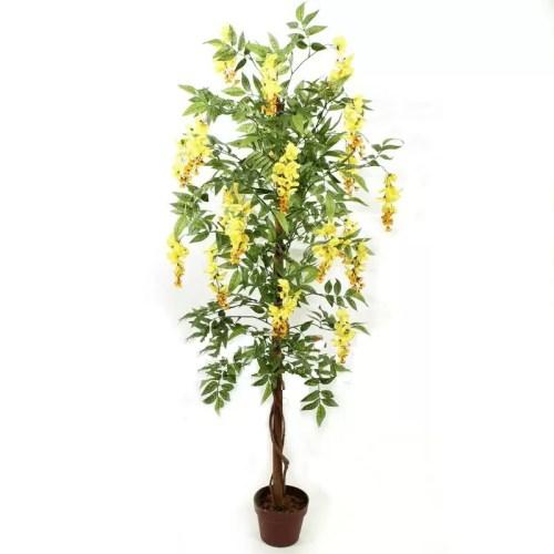Capoca artificial Wisteria cu flori galbene