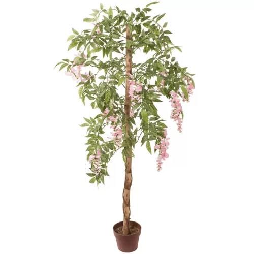 Capoca artificial Wisteria cu flori roz