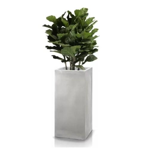 Ghiveci plante inalt compozit fibra beton usor gri nisip Lyrata