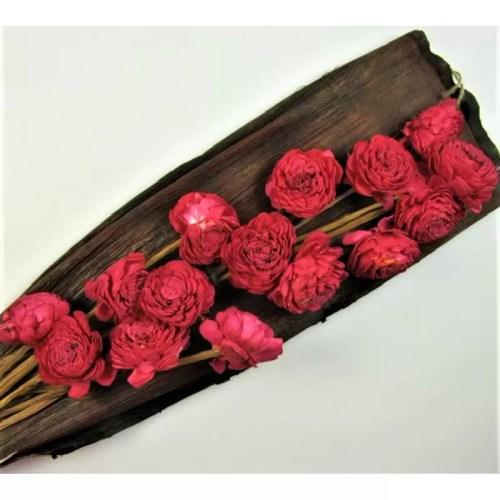 Buchet flori Ming rosu