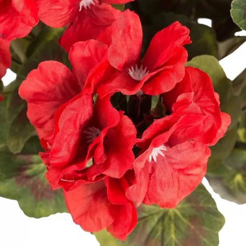 Muscata artificiala cu flori rosii fara ghiveci 57cm pic