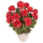Muscata artificiala cu flori rosii fara ghiveci 57cm