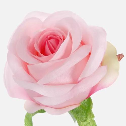 Trandafir artificial roz 9cm 705