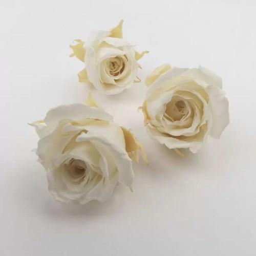 Trandafir mini stabilizat x12 alb