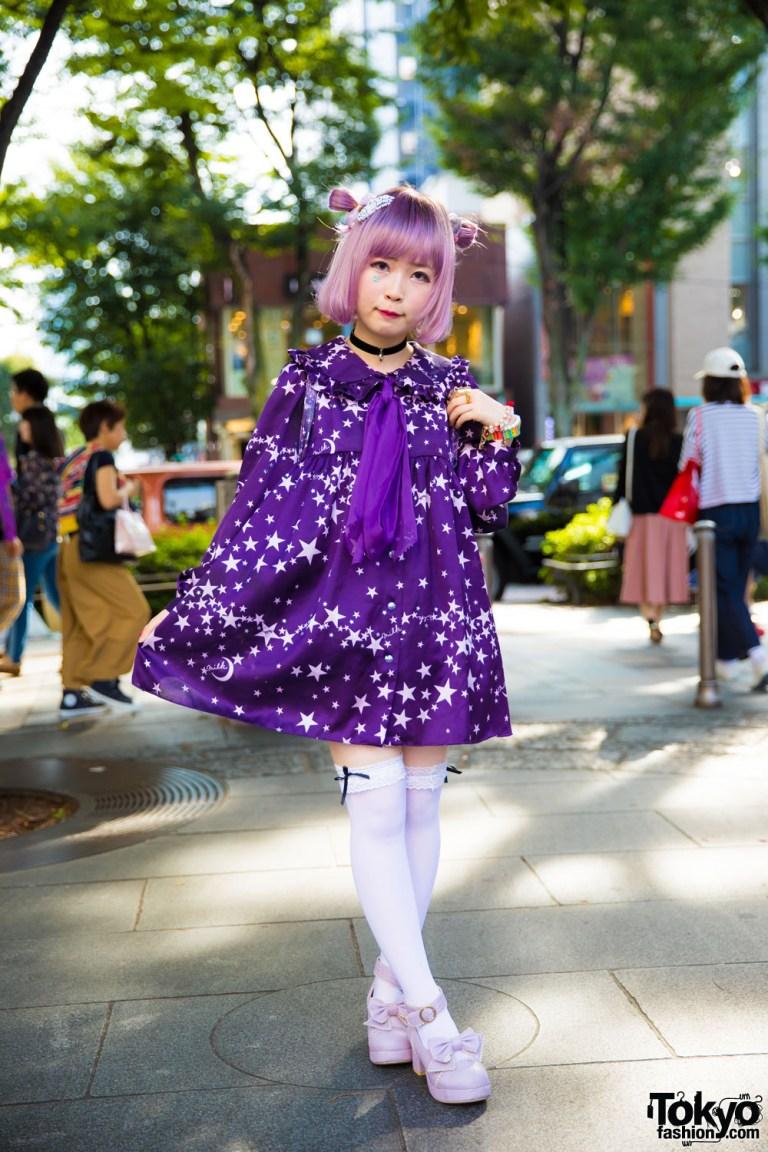 Tampil Imut Dengan Busana Kawaii Purple