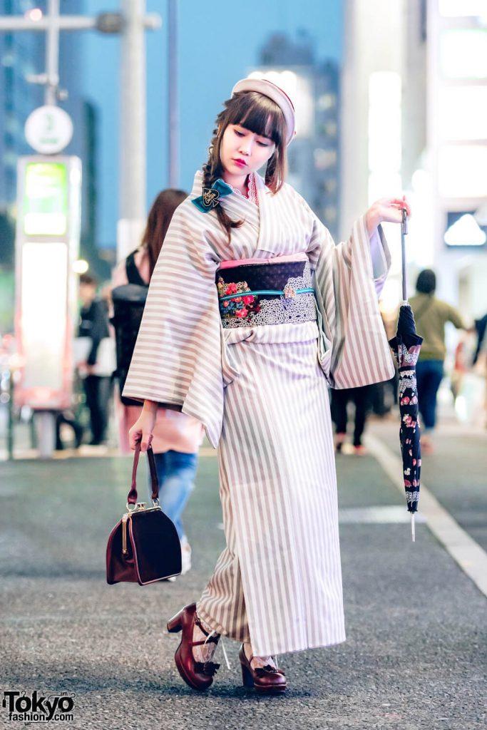 Take Tampilkan Busana Kimono Modern Dalam Harajuku Fashion Jepang