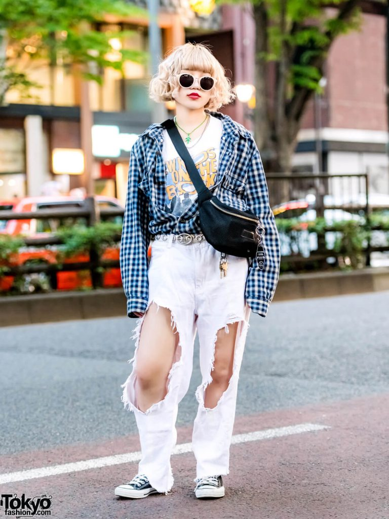 Paduan Street Style Dan Vintage Oleh Megumi Dalam Harajuku Fashion Jepang