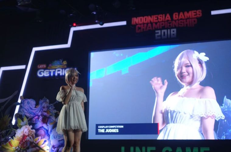 Kumpulan Cosplayer Dalam Acara Indonesian Games Championship 2018